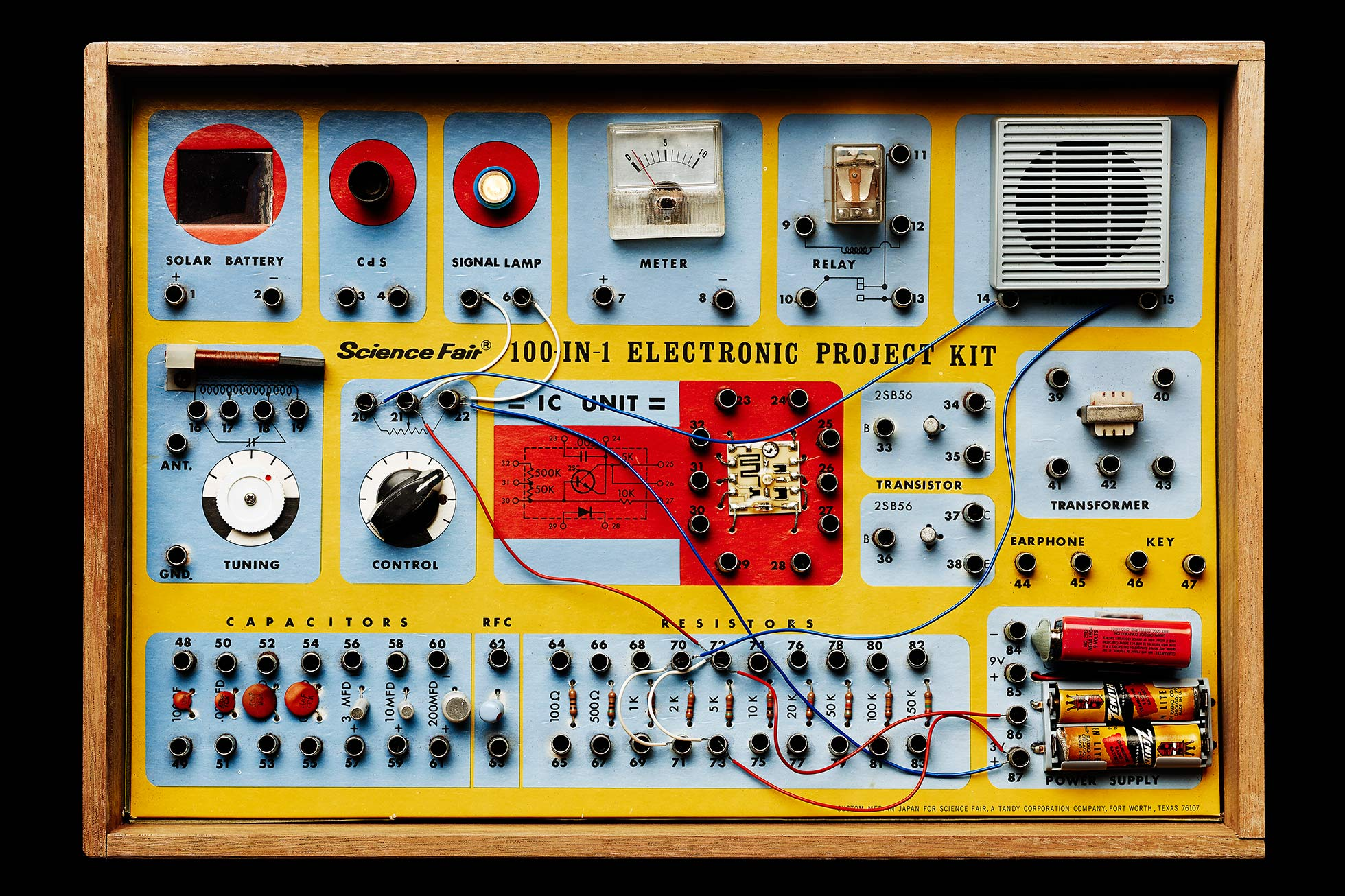 Vintage electronic kit 100 in 1