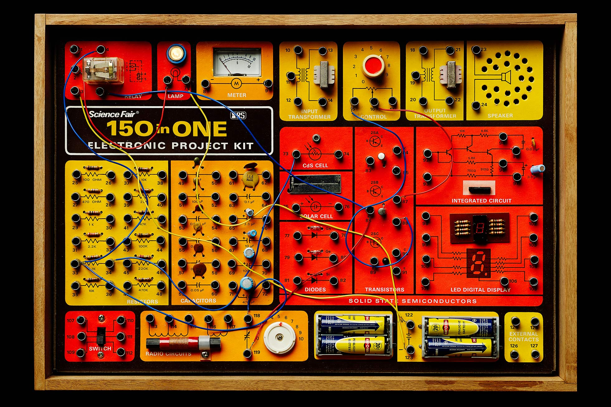 Vintage electronic kit 150 in 1