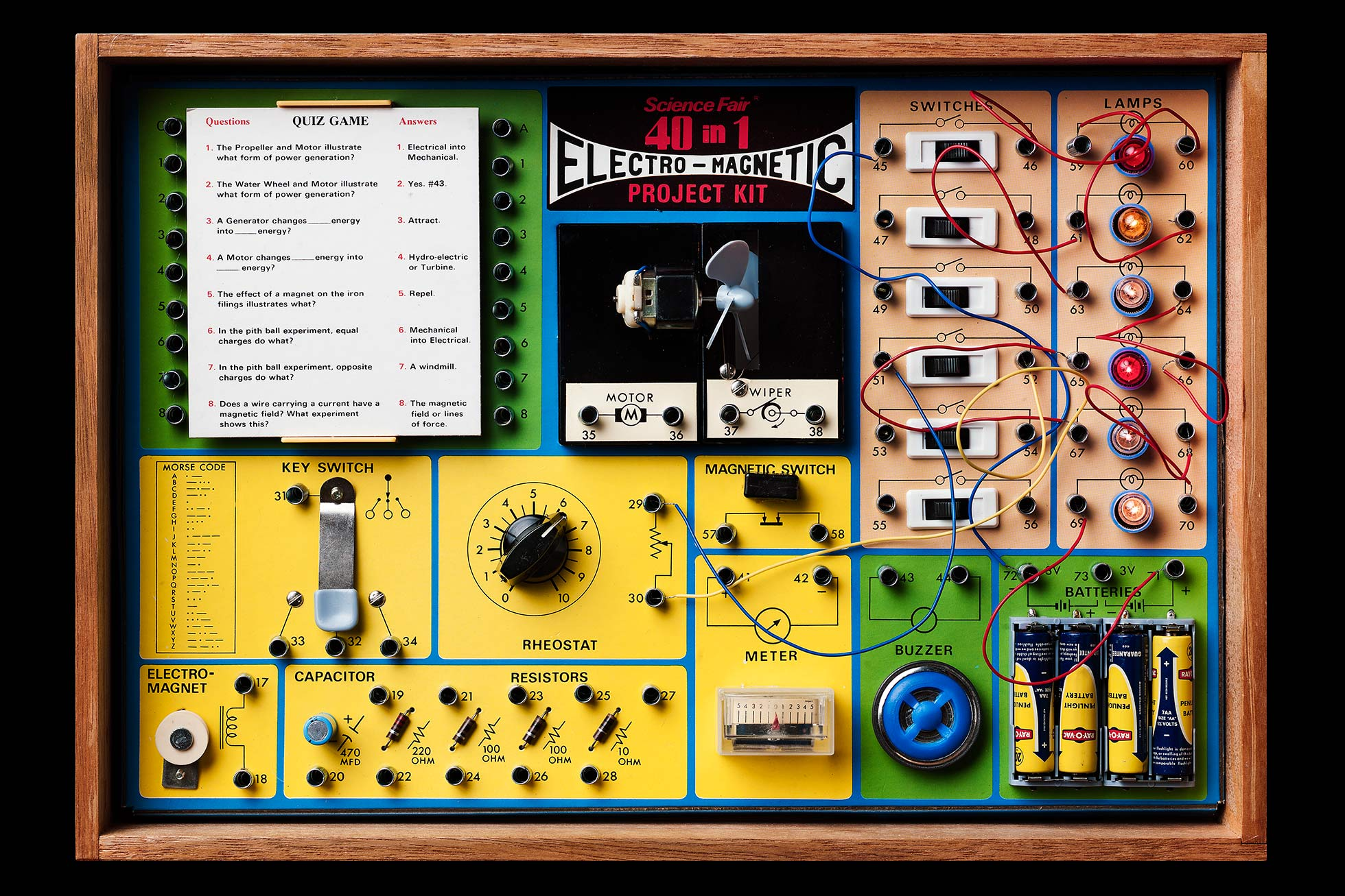 Vintage electronic kit 40 in 1