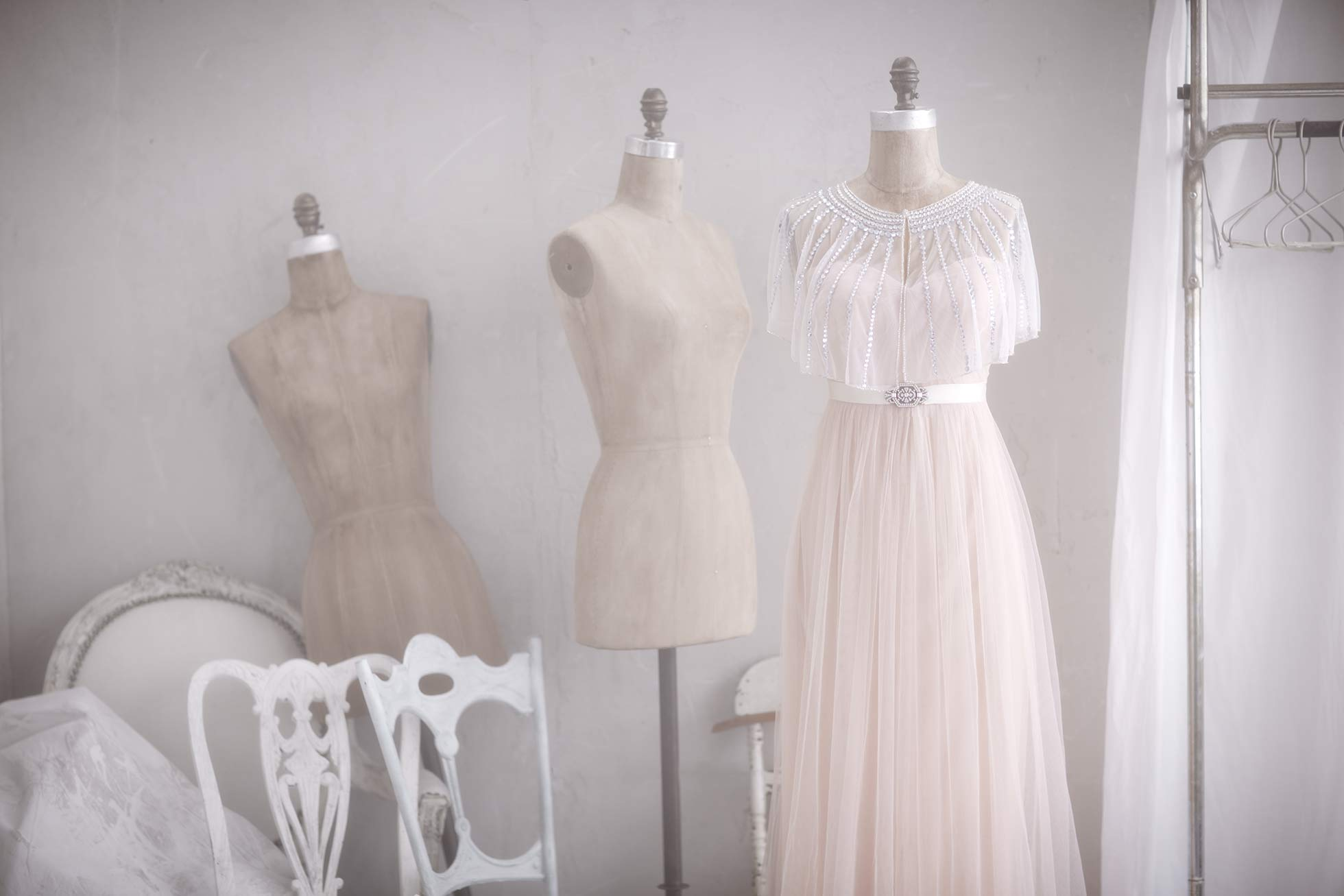 Wedding dresses and dress forms
