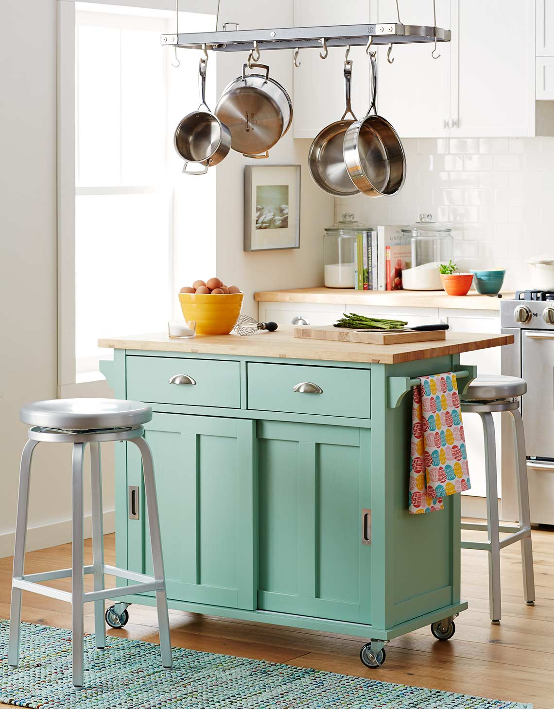 Crate and Barrel catalog kitchen island