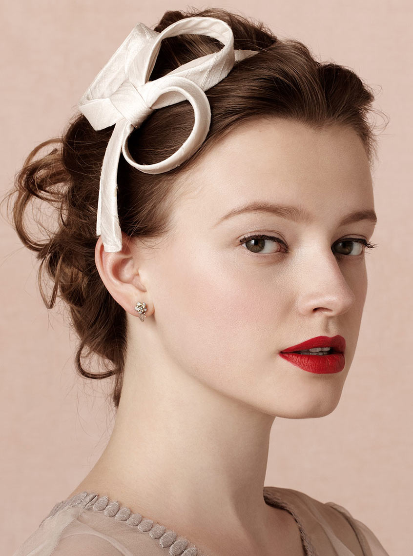 Beauty photograph of a model wearing a hair accessory
