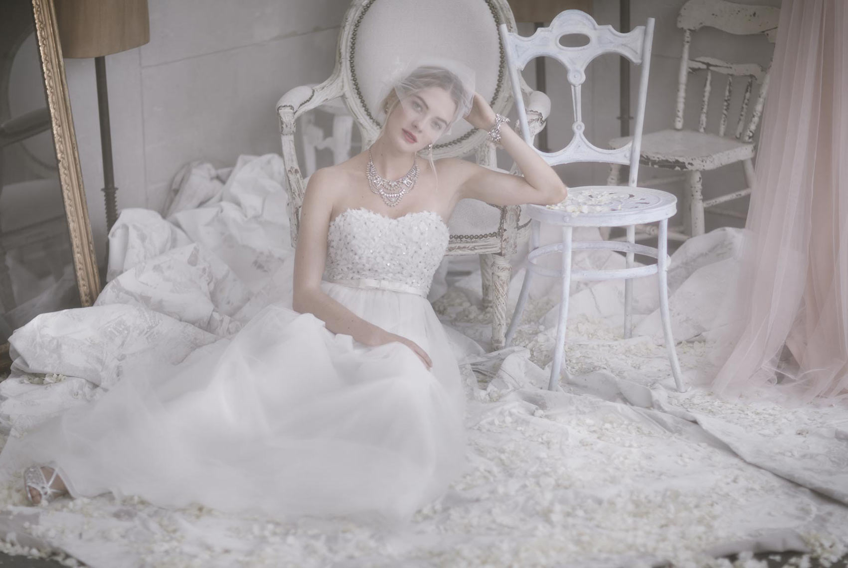 Wedding and bridal fashion photo for BHLDN.