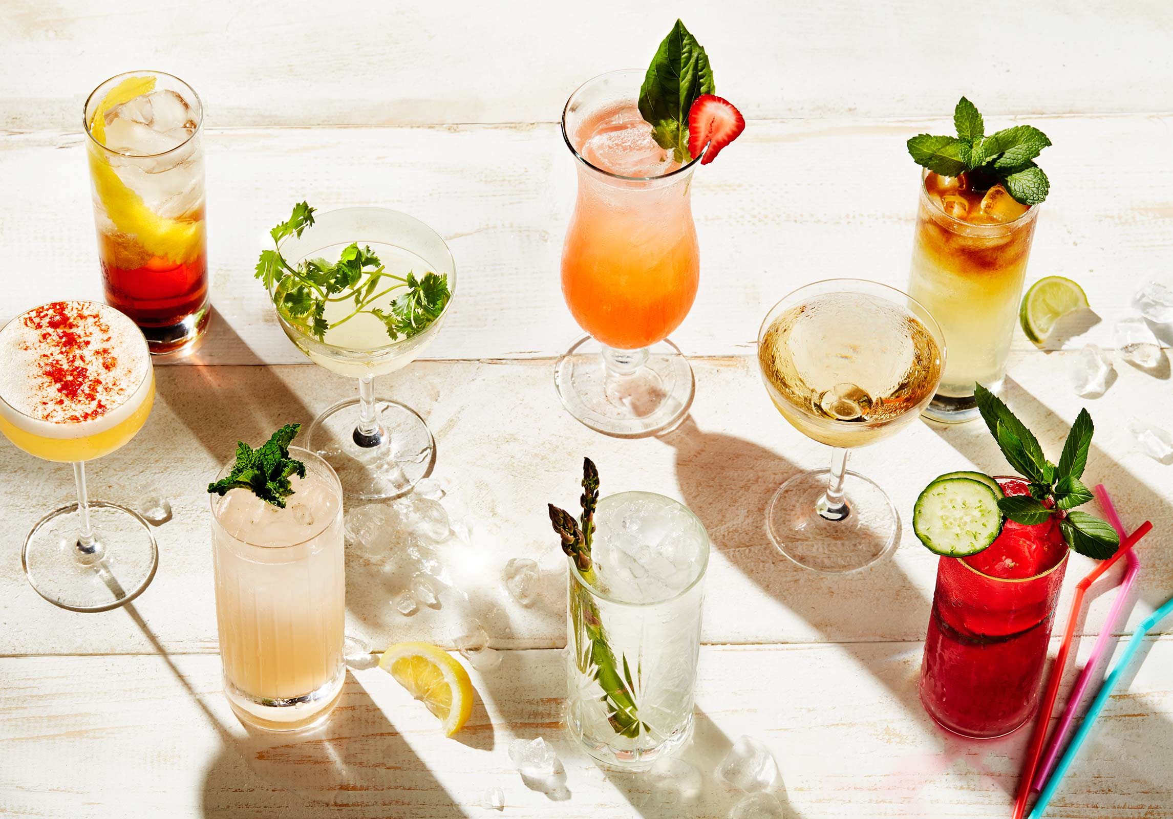 group photograph of Summer cocktails