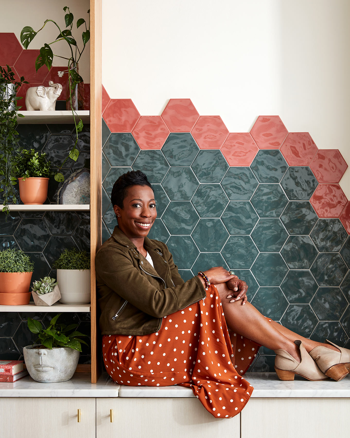 Portrait of Philadelphia based interior designer Sone Ehabe.