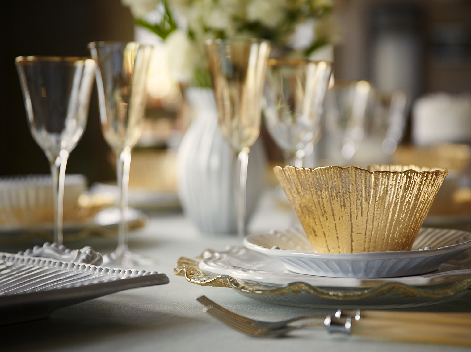 Table setting close up