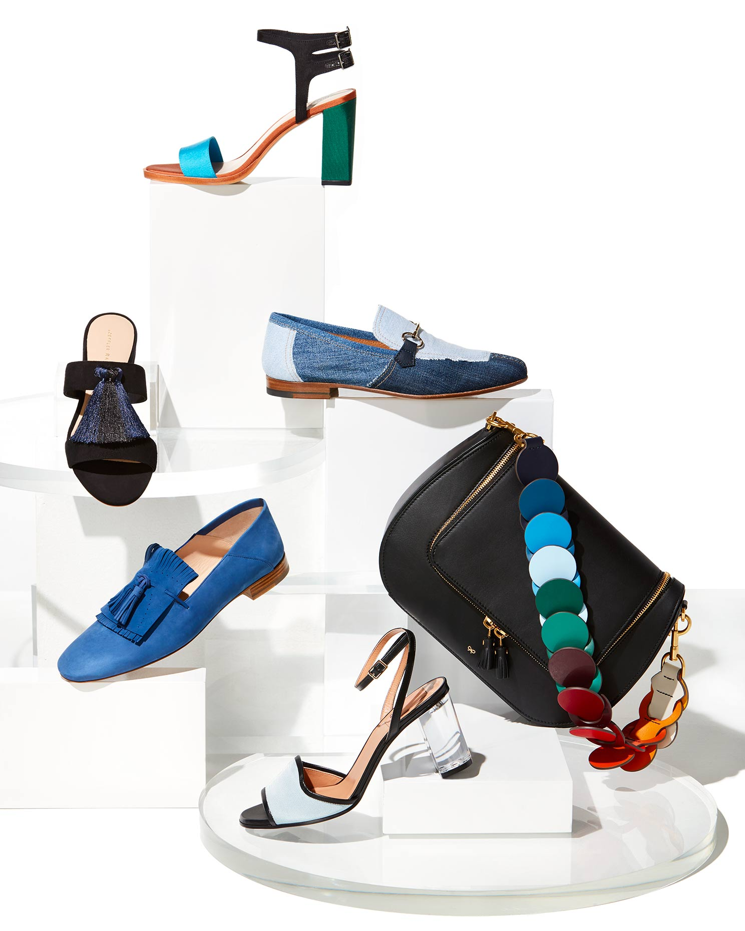 Catalog photography featuring womens Italian shoes.
