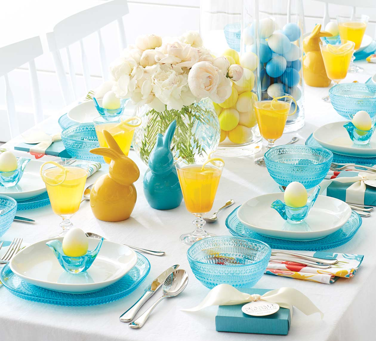 Easter table photograph for the Crate and Barrel catalog