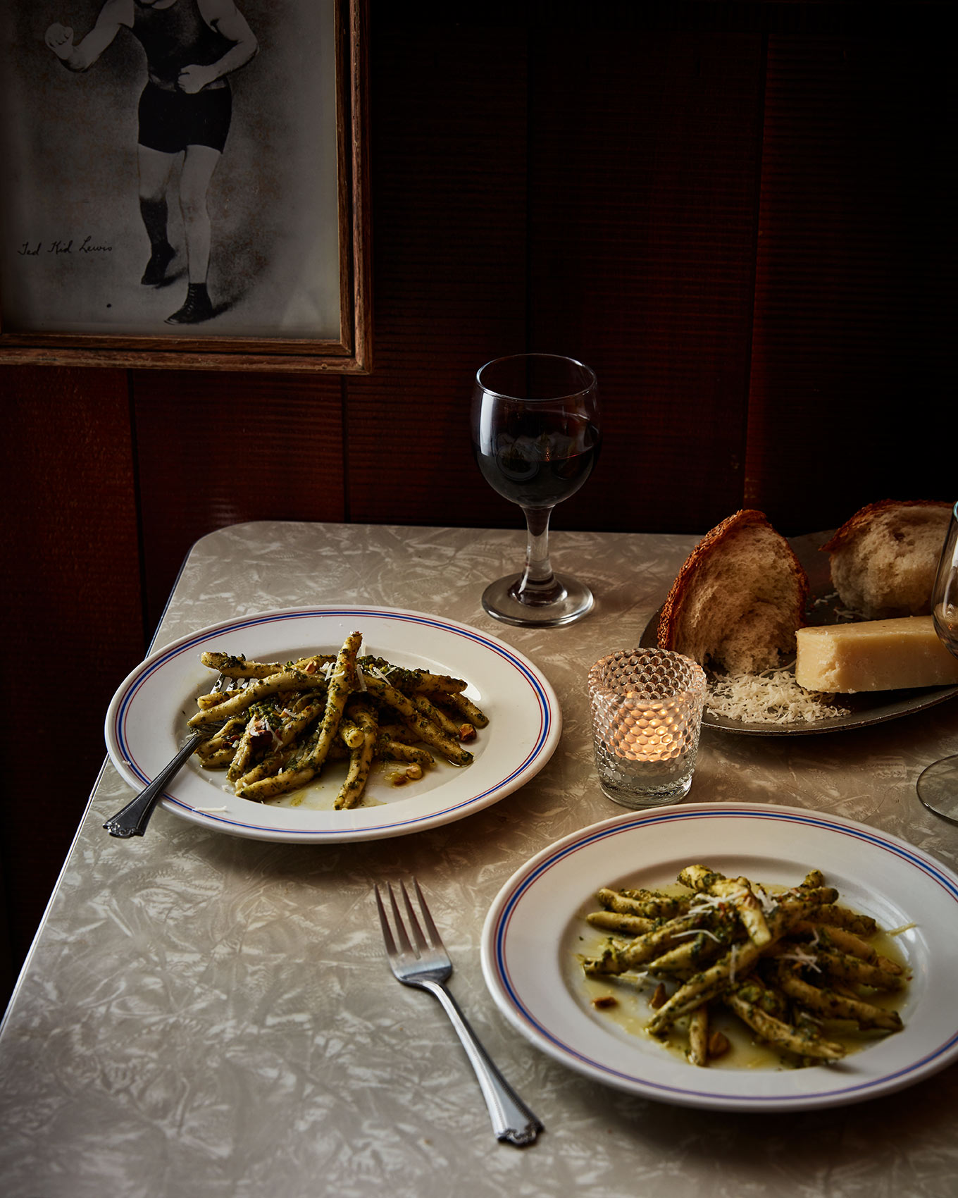 fusilli pasta for two at the palizzi social club in philadelphia