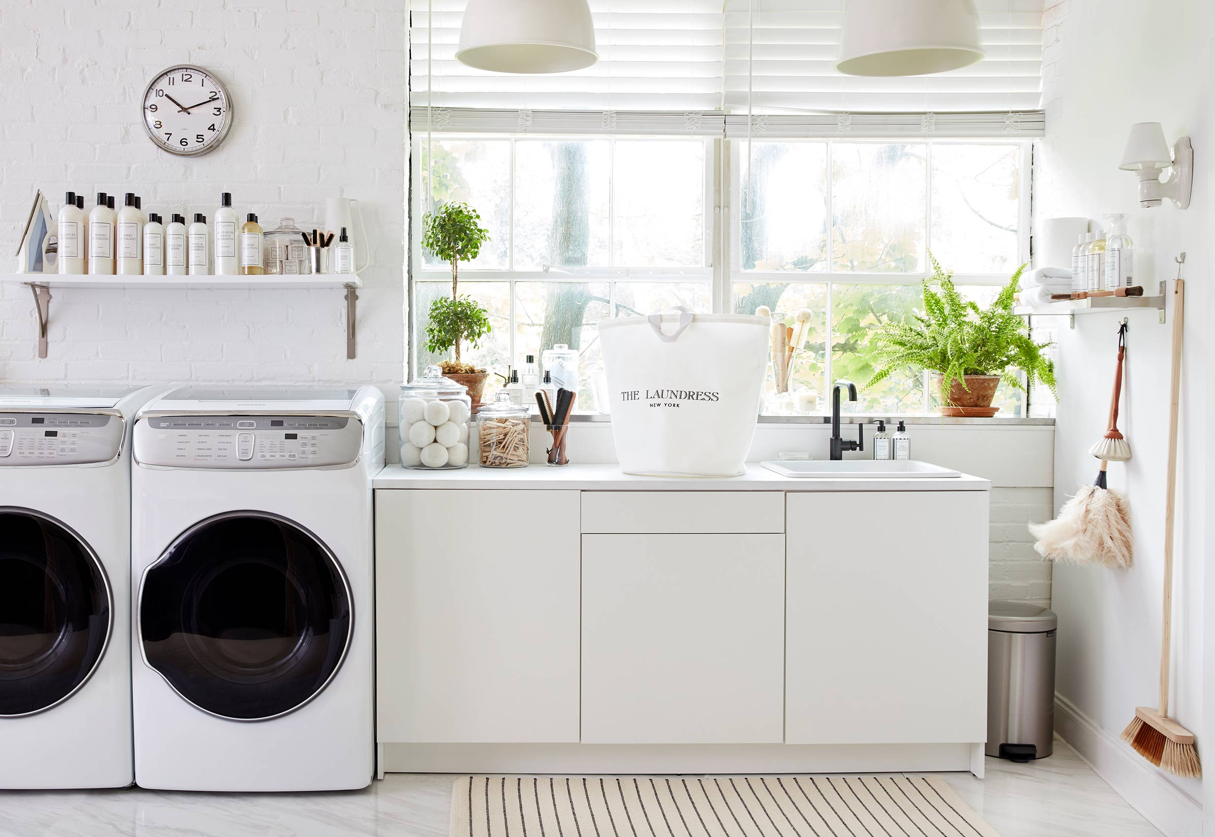 Catalog photo for The Laundress featuring laundry room and sink area