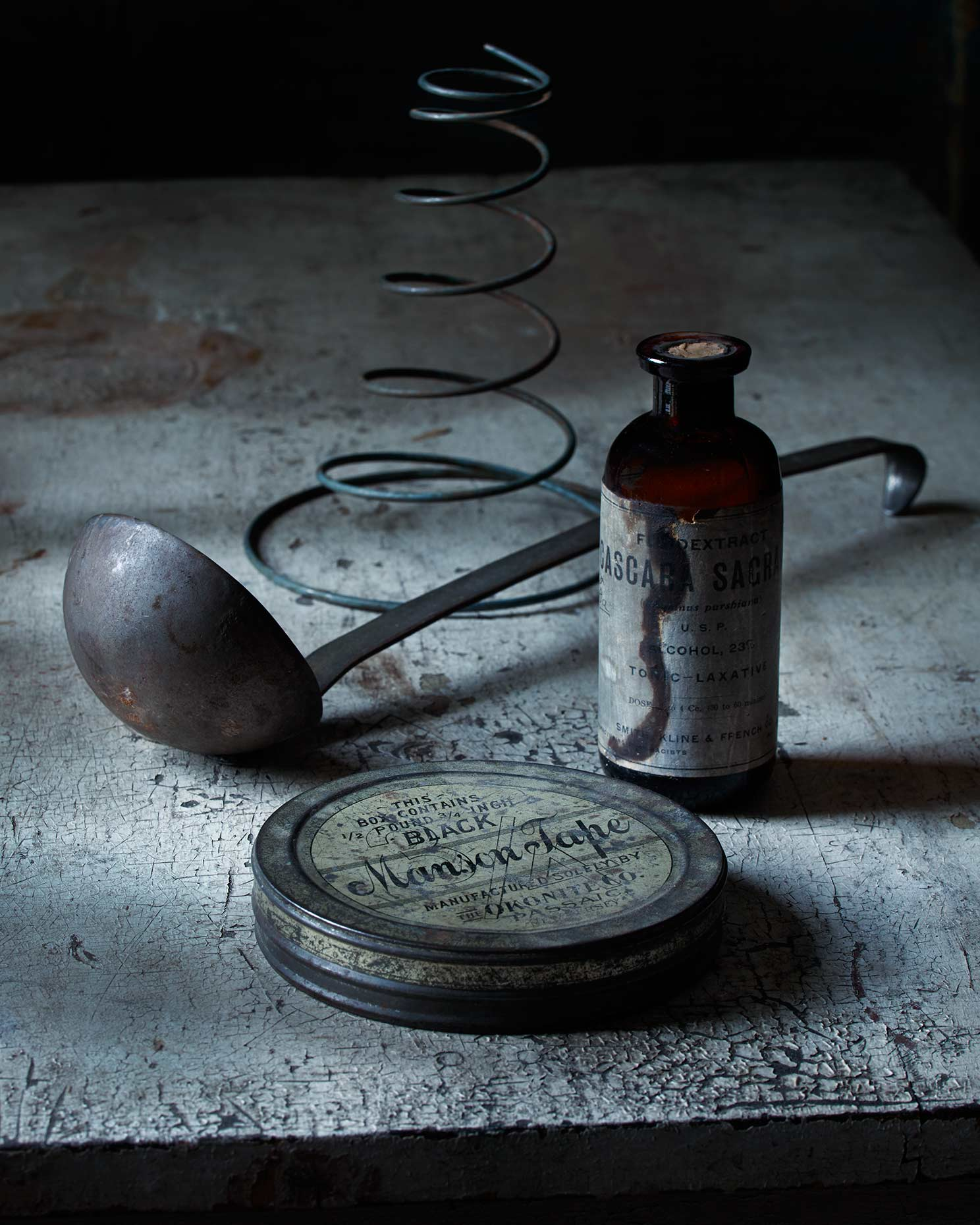 Classic still life composition with various vintage objects