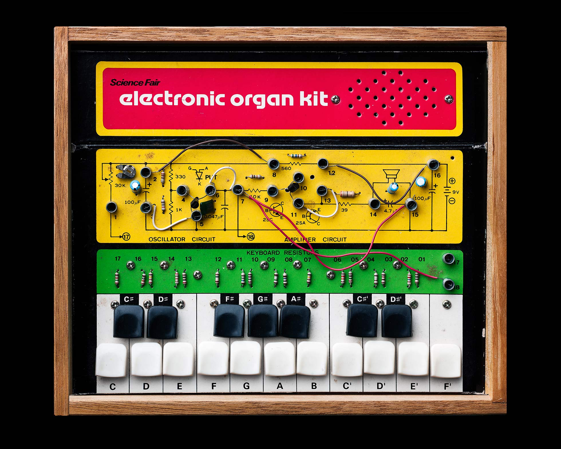 Vintage electronic organ kit