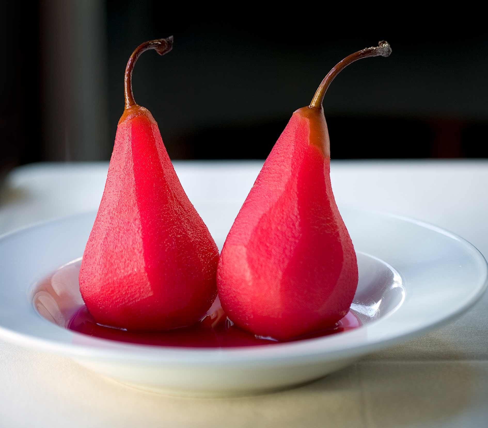 Colorful pear desert for a cookbook