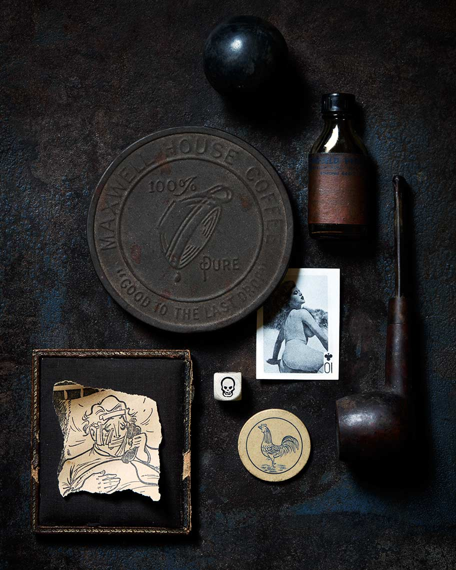 Dark graphic still life photograph