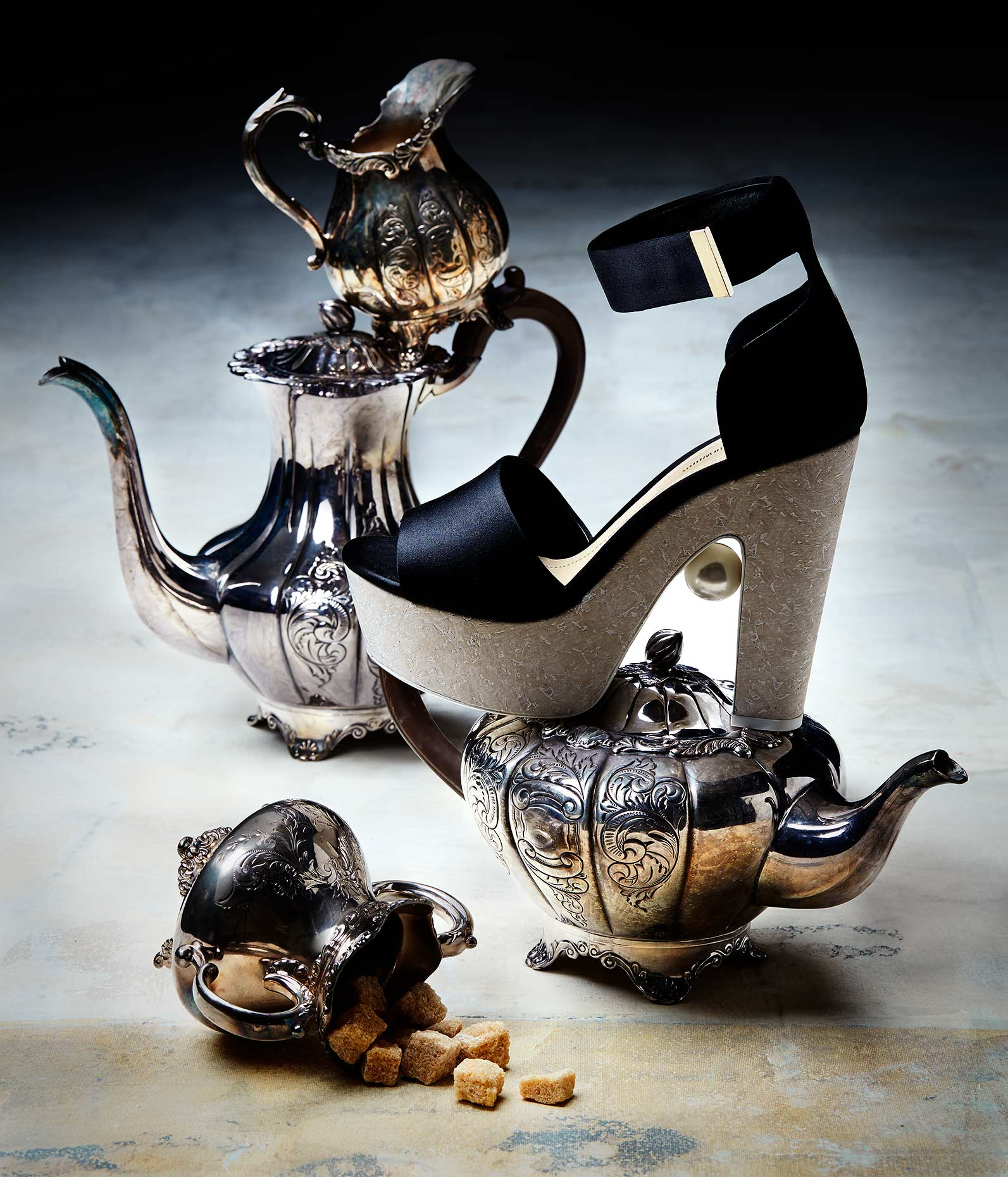 Teaset and heels